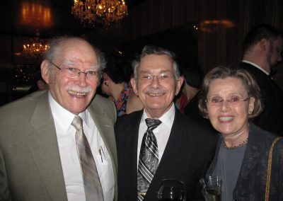 Jose Strauss, Chester Edelmann, Jr. and his spouse Norma
