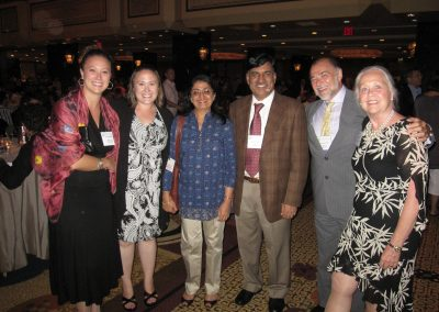 The Kaskel family and colleagues from India