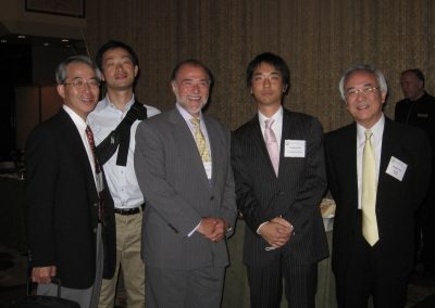 Yuhei Ito, his son, Rick Kaskel, Masafumi Taki and his son