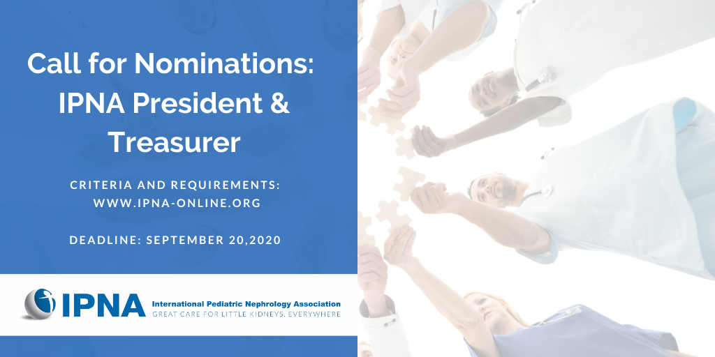 2020 IPNA Call for Nominations: President and Treasurer